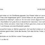 24.09.2020: Bericht Moritz